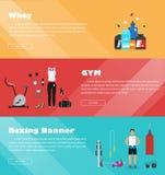 横幅健身体育健身房 免版税库存图片