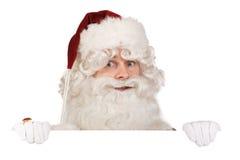 横幅克劳斯・圣诞老人 免版税库存照片