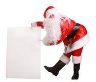 横幅克劳斯空的圣诞老人 库存照片