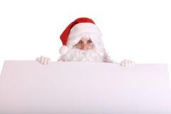 横幅克劳斯空的圣诞老人 免版税库存图片