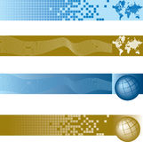 横幅全球集 免版税图库摄影