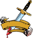 横幅匕首彀子例证向量 库存照片