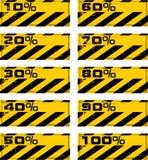 横幅危险百分比 免版税库存照片