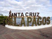 横幅口岸Puerto阿洛拉,圣克鲁斯,加拉帕戈斯,厄瓜多尔 免版税库存照片
