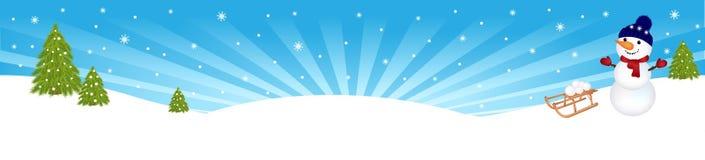 横幅向量冬天 免版税库存图片