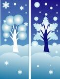 横幅向量冬天 库存照片