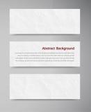 横幅和纸 免版税库存照片