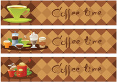 横幅咖啡 库存图片