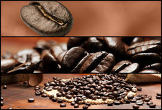 横幅咖啡 图库摄影
