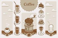 横幅咖啡 免版税库存图片