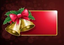 横幅响铃圣诞节 免版税库存图片