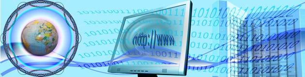 横幅商务e万维网 向量例证