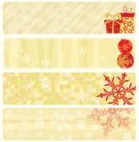 横幅圣诞节收集 皇族释放例证