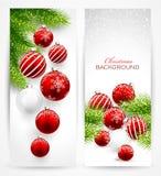 横幅圣诞节查出集 免版税库存照片