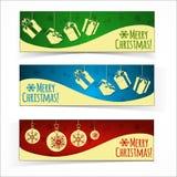 横幅圣诞节查出集 免版税库存图片