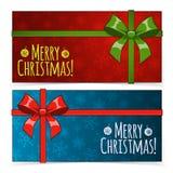 横幅圣诞节查出集 免版税图库摄影