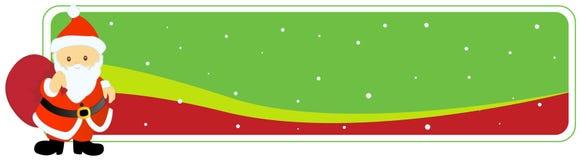 横幅圣诞节标头圣诞老人 免版税库存图片