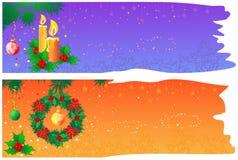 横幅圣诞节空间 向量例证