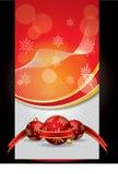 横幅圣诞节红色向量 库存图片