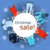 横幅圣诞节销售 库存照片