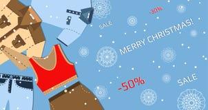 横幅圣诞节销售 库存图片