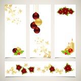 横幅圣诞节集 库存图片