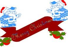 横幅圣诞节 库存图片