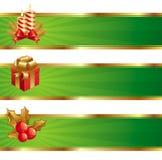 横幅圣诞节 库存照片