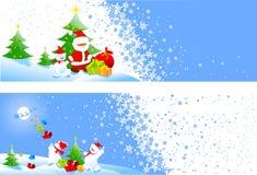 横幅圣诞节 库存例证