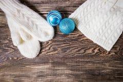 横幅圣诞节eps10例证向量 背景蓝色雪花白色冬天 免版税图库摄影