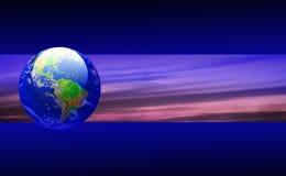 横幅地球天空 库存图片