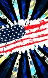 横幅垂直脏美国旗子 库存照片