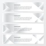 横幅多角形设计白色颜色 皇族释放例证