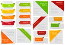 横幅大收藏五颜六色的origami纸张 库存例证