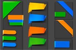 横幅大收藏五颜六色的origami纸张 向量例证