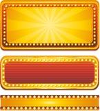 横幅娱乐场 免版税库存图片