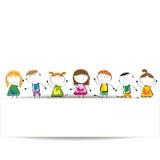横幅孩子 免版税库存图片
