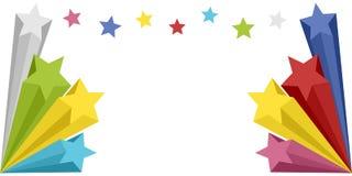 横幅展开星形 库存例证