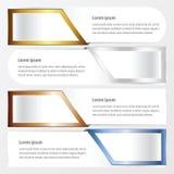横幅布局金子,古铜,银,蓝色颜色 库存例证