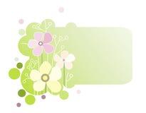 横幅开花绿色 向量例证