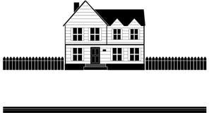 横幅房子向量 免版税库存照片