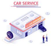 横幅提供日夜不停的汽车修理服务 皇族释放例证