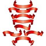 横幅收集红色 向量例证