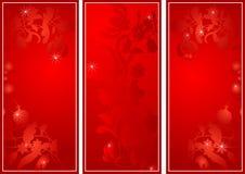 横幅日花红色s神圣的华伦泰 库存例证