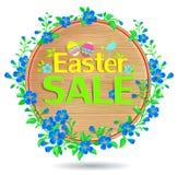 横幅木复活节的销售 免版税库存照片