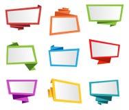 横幅标签丝带标记Origami传染媒介 库存例证