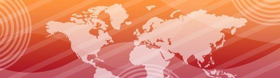 横幅标头映射万维网世界 免版税库存照片