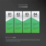 横幅模板氖绿色 免版税库存图片
