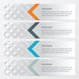 横幅橙色织法的样式,蓝色,灰色颜色 库存例证