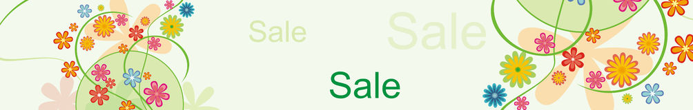 横幅水平的销售额 免版税库存图片